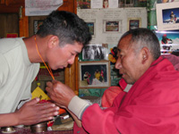Blessing from Lama