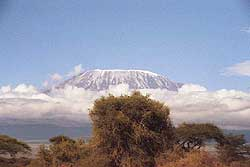 Kibo Peak, highest point of Mt. Kilimanjaro